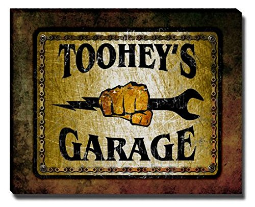 tooheys-garage-stretched-canvas-print