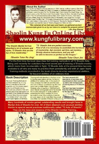 Authentic Shaolin Heritage: Training Methods Of 72 Arts Of Shaolin