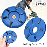 Six Teeth Power Wood Carving Disc Tool - Yoruii Woodworking Engraving 6-Tooth Milling Cutter for Angle Grinders Attachment Milling Cutter Tool (Arc teeth&Flat teeth) (Tamaño: Arc teeth&Flat teeth)