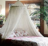 Jeweled Bling Princess Canopy By Sid (White)
