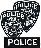 Aufnäher Bügelbild Aufbügler Iron on*Premium Aufnäher* Patches Applikation Uniform US Police Polizei Abzeichen Bügelbild