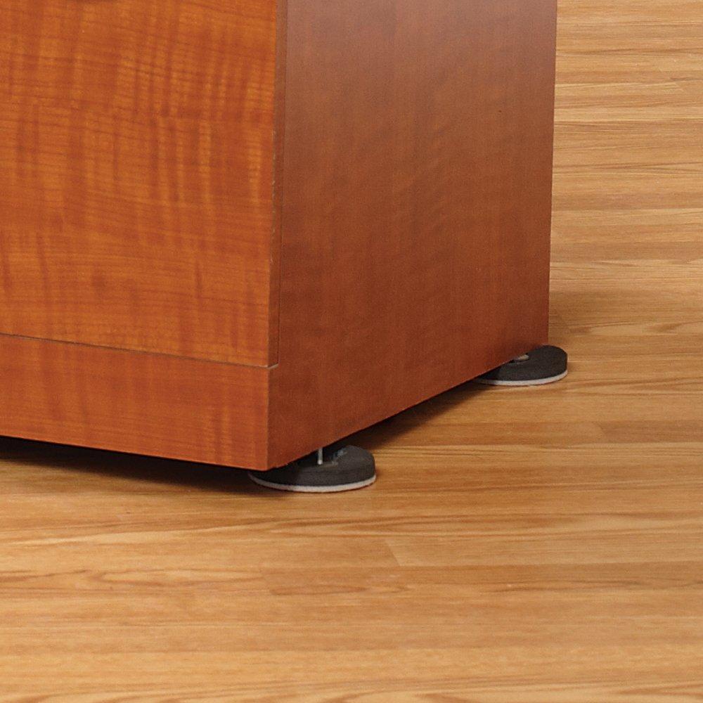 3 1 2 inch felt bottom round furniture sliders brown new free shipping ebay. Black Bedroom Furniture Sets. Home Design Ideas