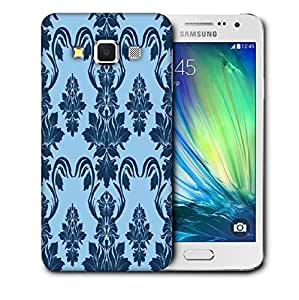 Snoogg Blue Abstract Pattern Printed Protective Phone Back Case Cover For Samsung Galaxy A3