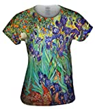 Vincent Van Gogh - Irises (1889) -Tagless- Womens Shirt-Small