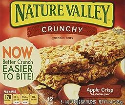Nature Valley Crunchy Granola Bars - Apple Crisp - 8.9 oz - 12 Count - 6 Pack