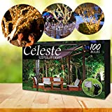 ArchstoneTM Celeste LED Solar Powered Fairy Lights, 40ft (12m), Decorate your Home, Patio, Garden, Trees, Shrubs, Decks, Porches, Parties. White Heavenly Lights, Waterproof, Recharges in Daytime, Shines Bright at Night!