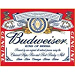Budweiser Beer Label Tin Sign - 13x16