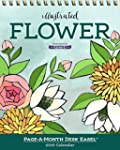 Illustrated Flower Page-A-Month Desk...