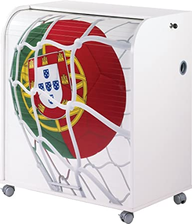 Simmob MUST095BL966 Portogallo 966-Pallone Coppa del Mondo-It in legno, 53,2 x 79,2 x proprietà al 93,8 cm