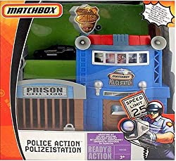 Matchbox Police Station Adventure Set w/ 1:64 Scale Collectible Die Cast Car