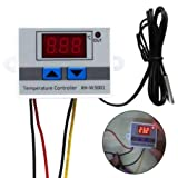 Digital LED Temperature Controller Thermostat Control Switch Waterproof Probe Wire Connect High Sensitivity Temperature Sensor (Color: White(220V))