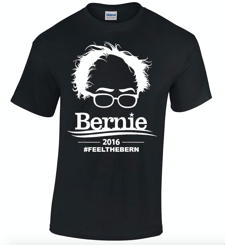 Bernie Sanders 2016 Feel the Bern Shirt Black T Shirt