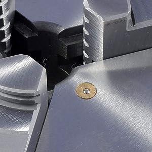 HHIP 3900-0037 8 Inch 3-Jaw Lathe Chuck, Plain Back (Tamaño: 8 Chuck Size)