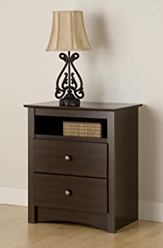 Fremont Tall 2 Drawer Nightstand with Open Shelf