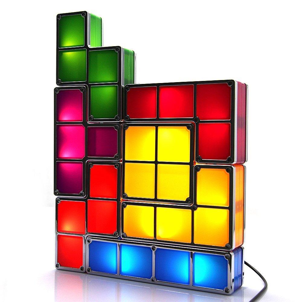 Tetris Ziho LED colorati scrivania lampada/luce, bambini lampada/DIY decorazione luci, PC + ABS materiale 220 V AC Adattatore EU