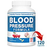 Longevity Blood Pressure Formula [120 Capsules] - with 15+ Natural Herbs. Best Blood Pressure Supplement