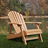 61PAZmplyML. SL160  Highwood Folding and Reclining Adult Adirondack Chair, Toffee