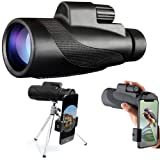 NewBing Monocular Telescope, 40X60 High Powered HD Waterproof Zoom Monocular with Smartphone Clip & Metal Tripod for Bird Watching Hunting Hiking Travelling Outdoor Activities