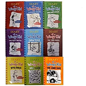 Diary of Wimpy Kid Set. Book 1-9 (The Long Haul Rodrick Rules Dog Days The Ugly truth Diary of a Wimpy Kid The Last Straw Cabin Fever The thrid Wheel Hard Luck)