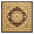Safavieh Lyndhurst Collection LNH222A Black and Ivory Area Runner