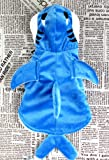 Zenness Adorable Blue Shark Pet Dog Costume Soft Cozy Hoodie Coat for Dogs and Cats (L(Neck:32cm x Body:31cm x Chest:48cm))