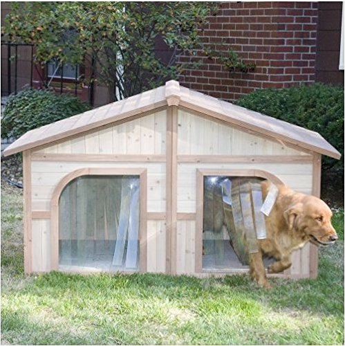 Extra large solid wood dog houses suits two dogs or 1 for 2 large dog house