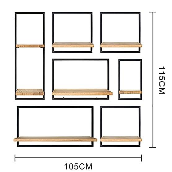 FGSGJ Personalità creativa stile industriale appeso a parete rack di stoccaggio soggiorno casa LOFT vintage in ferro battuto rack ciondolo di grandi dimensioni