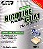 Nicotine Gum 2 mg Mint Flavor Sugar Free Generic for Nicorette Gum 110 Pieces per Box