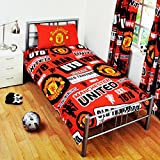 Manchester United FC Football Patch Duvet and Pillow Case Sets (Single)
