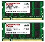 Komputerbay – Memoria SODIMM para portátiles (8 GB, 2 x 4 GB, DDR2, 667 MHz, PC2-5300, 200 pines) 4GB 2x2GB