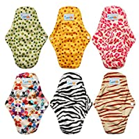 Love My (TM) Antibacterial Bamboo fiber Mama Cloth/ Menstrual Pads/ Reusable/ Panty Liners - 6pcs pack(LM1) by 10LOVE