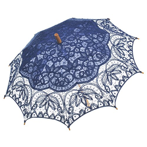 Remedios(19 colors) Vintage Bridal Wedding Party Cotton Lace Parasol Umbrella 0