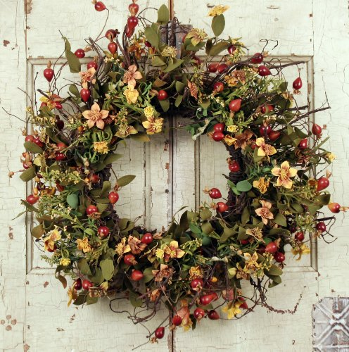 "Wreath Warehouse 24"" Everyday Rosebuds Wreath at Sears.com"