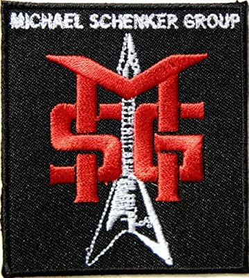 SMG MICHAEL SCHENKER GROUP Heavy Metal Rock Punk Music Band Logo Patch Sew Iron on Embroidered Polo T-shirt Vest Cloth,Size 2.75Inch X 3Inch