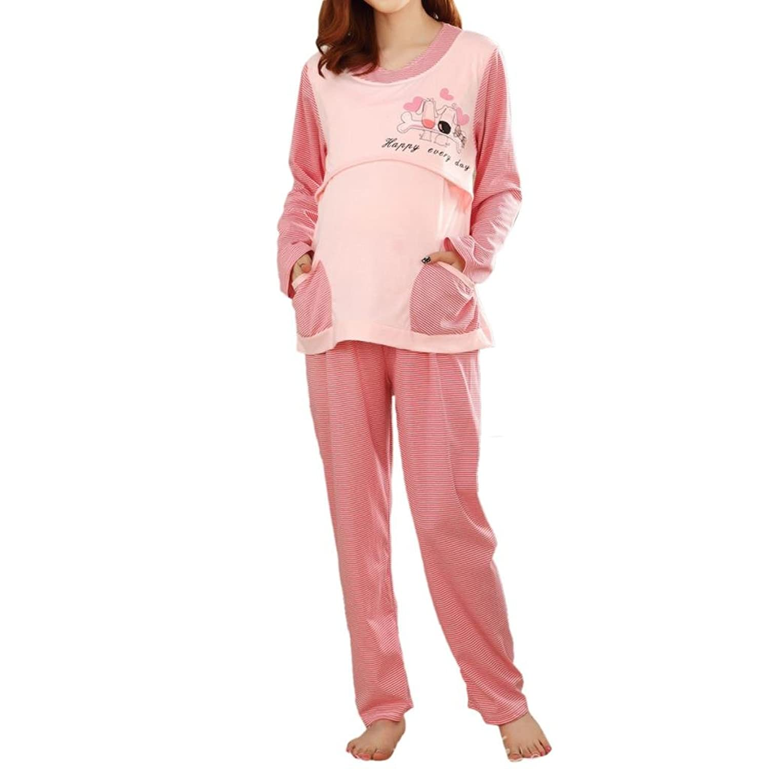 hee-grand-pregnant-women-fashion-nursing-clothes-big-size-home-suit
