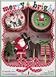 Christmas Cupcake Kit- Merry and Bright by Meri Meri- Includes Toppers and Wrappers
