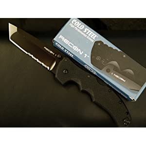 Cold Steel Recon 1 Tactical Knife with G-10 Handle