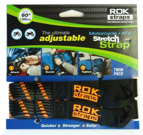 ROK-Straps-ROK-10031-BlackOrange-18-60-MotorcycleATV-Adjustable-Stretch-Strap