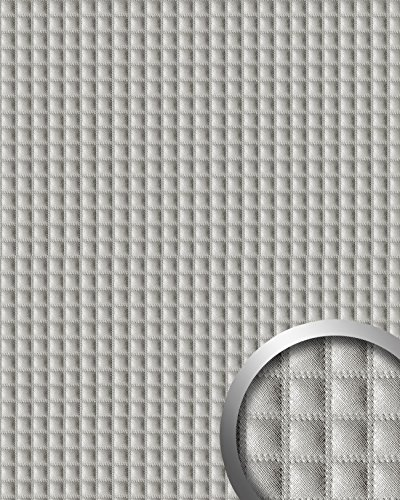 wallface-16422-quadro-wall-panel-leather-square-interior-decor-luxury-wallcovering-self-adhesive-sil