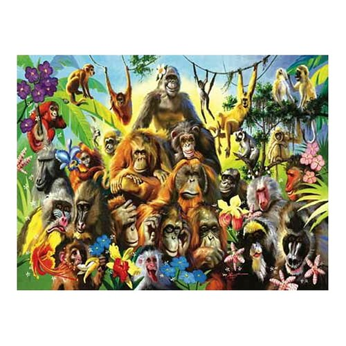 Cheap Fun Sunsout Monkeyshines 500 Piece Jigsaw Puzzle (B0006442SG)