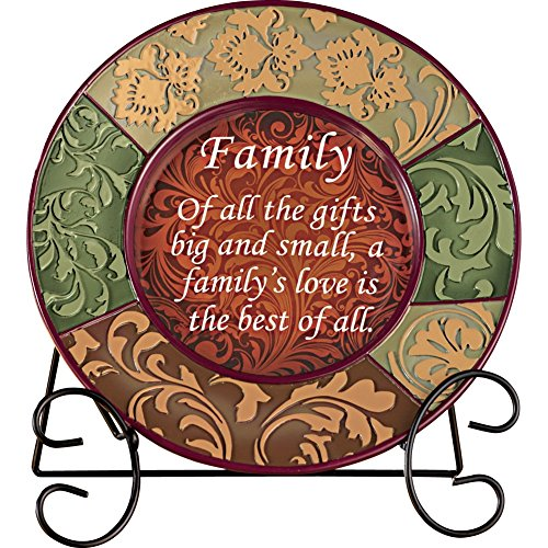 Decorative Inspirational Plate, Family (Decorative Display Plates compare prices)