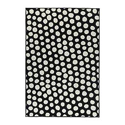 Ikea Ullgump Area Rug Polka Dot Low Pile Black