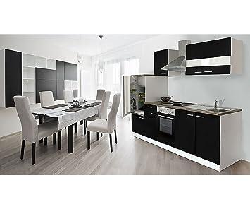 respekta Bloc de cocina Leer Cocina vacía (270cm blanco y negro
