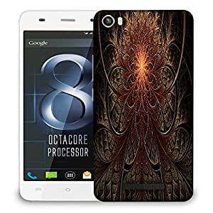 Snoogg Fractal Lines Abstract Designer Protective Phone Back Case Cover For LAVA IRIS X8
