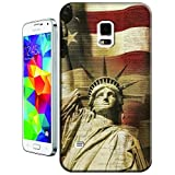 Sangu the American Flag Statue of Liberty Hard TPU Samsung Galaxy S5 Case by Sangu