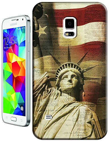 Sangu The American Flag Statue Of Liberty Hard Tpu Samsung Galaxy S5 Case