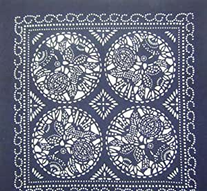 Handcraft Tapestry Tablecloth Chinese Batik Art 19x19: Home & Kitchen