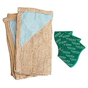 Scotch Brite Floor Cleaning Cloth and Scrub Pad Large