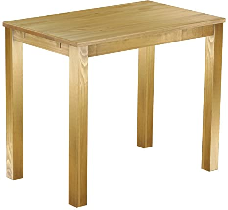 Brasil High Table 'Rio' 130 x 80 cm Solid Pine Wood, Colour: Brazil