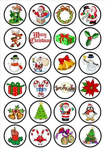 Christmas Festive #1 Edible Toppers